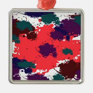 Ornamento negro rojo del premio de la pintura ornamentos para reyes magos