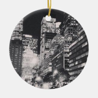 Ornamento negro y blanco de NYC Ornaments Para Arbol De Navidad
