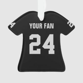 Ornamento negro y de plata del fútbol del jersey