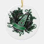 Ornamento negro y verde de la alegría de las calid adorno de navidad