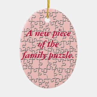 Ornamento - nuevo pedazo del rompecabezas de la fa adornos de navidad