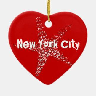 Ornamento NYC del corazón de las estrellas de mar Ornamentos De Reyes Magos