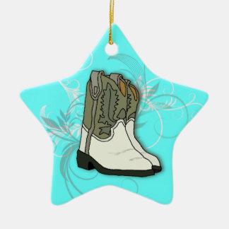 Ornamento occidental de la estrella de las botas d ornato