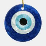 """Ornamento """"Olho grego"""" Adorno Navideño Redondo De Cerámica"""