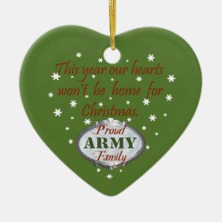 Ornamento orgulloso de la familia del ejército ornamento de navidad