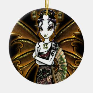 Ornamento oriental de la hada de la fan de Naomi Adorno Para Reyes