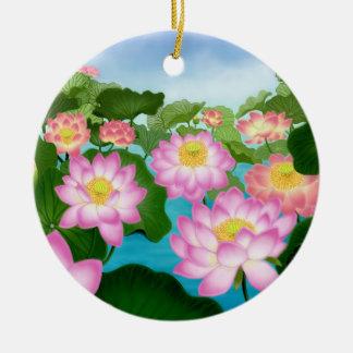 Ornamento oriental de las flores de Lotus Ornaments Para Arbol De Navidad