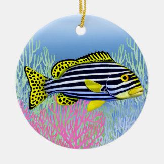 Ornamento oriental de los pescados de Sweetlips Ornamento De Navidad