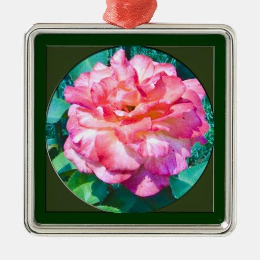 Ornamento -- Ornamento cuadrado superior Adorno Navideño Cuadrado De Metal