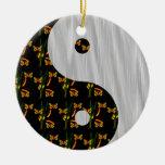 Ornamento oscuro de Yin Yang del jardín Ornamento Para Arbol De Navidad
