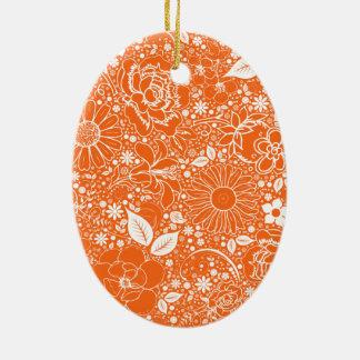 ORNAMENTO OVAL anaranjado de las bellezas botánica Ornamento Para Arbol De Navidad