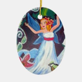 Ornamento oval de hadas del invierno de la aurora adorno para reyes