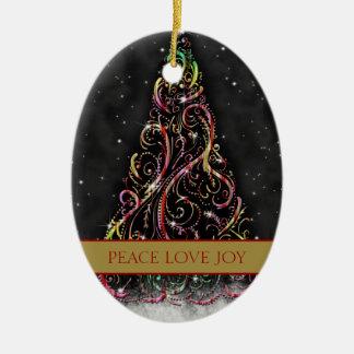 Ornamento oval de Navidad del árbol de navidad de  Ornatos