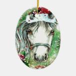 Ornamento oval del caballo del día de fiesta para  ornamento de reyes magos