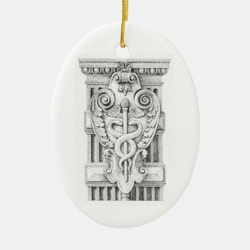 Ornamento oval del detalle de la columna (2 adorno de navidad