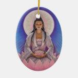 Ornamento oval del navidad de Kuan Yin Ornamente De Reyes