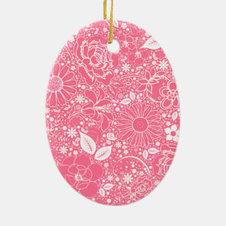 ORNAMENTO OVAL rosa claro de las bellezas botánica Adorno