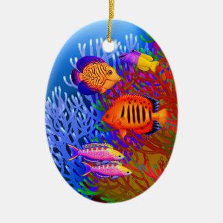 Ornamento pacífico colorido de los pescados del fi ornamento de reyes magos