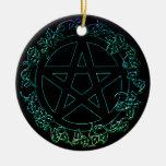 Ornamento pagano del pentáculo del elemento del ornamento para reyes magos