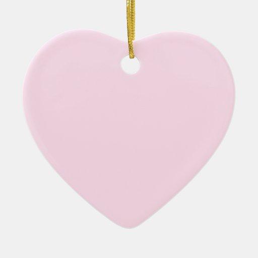 Ornamento pálido del corazón del rosa color de adorno para reyes