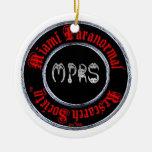 Ornamento paranormal de la sociedad de la ornamentos de navidad