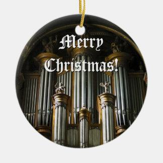 Ornamento parisiense del navidad del órgano adorno navideño redondo de cerámica