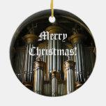 Ornamento parisiense redondo del navidad del órgan adornos de navidad