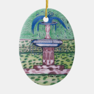 Ornamento Parque-oval de Forsythe Adorno Ovalado De Cerámica
