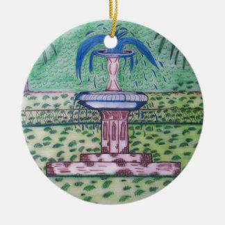 Ornamento Parque-redondo de Forsythe Adorno Navideño Redondo De Cerámica