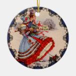 Ornamento pasado de moda del navidad de las adornos de navidad