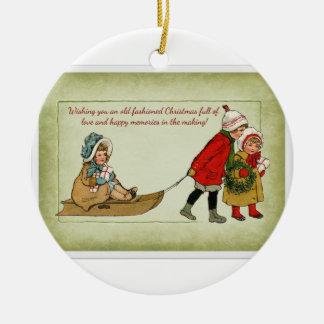 Ornamento pasado de moda del navidad ornamentos de navidad