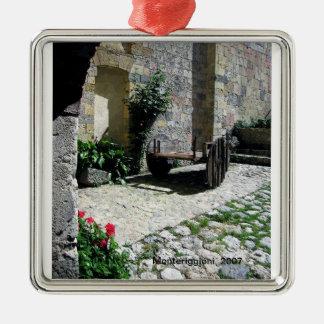 Ornamento - patio aislado en Monteriggioni Adorno Navideño Cuadrado De Metal