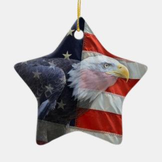 Ornamento patriótico de Eagle de la bandera de los Ornamento De Reyes Magos