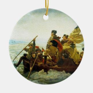 Ornamento patriótico adorno redondo de cerámica