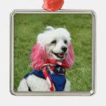 Ornamento patriótico del caniche adornos