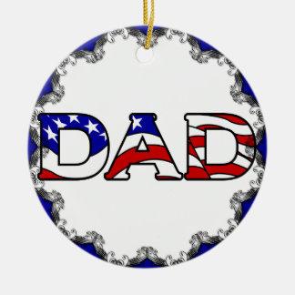 Ornamento patriótico del navidad del papá ornamentos de reyes magos