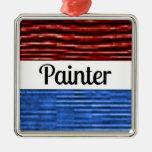 Ornamento patriótico del navidad del pintor adorno de reyes