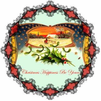 Ornamento patriótico del navidad del vintage WWI Adorno Fotoescultura