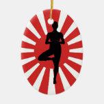 ornamento pendiente de cerámica de la yoga 3 del s adornos