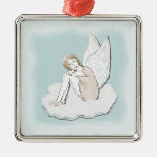 Ornamento pensativo del ángel ornamentos de reyes