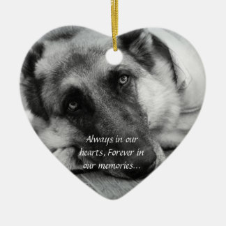 Ornamento perdido del mascota adorno de cerámica en forma de corazón