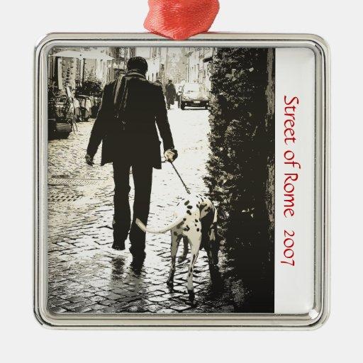Ornamento - perro que camina en Trastevere Adorno Para Reyes