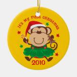 Ornamento personalizado 1r navidad del chica del m ornamento de navidad