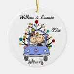 Ornamento personalizado 1r navidad del coche del b ornaments para arbol de navidad