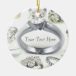 Ornamento personalizado anillos de Bling Ornamente De Reyes