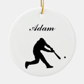 Ornamento personalizado béisbol del navidad adornos