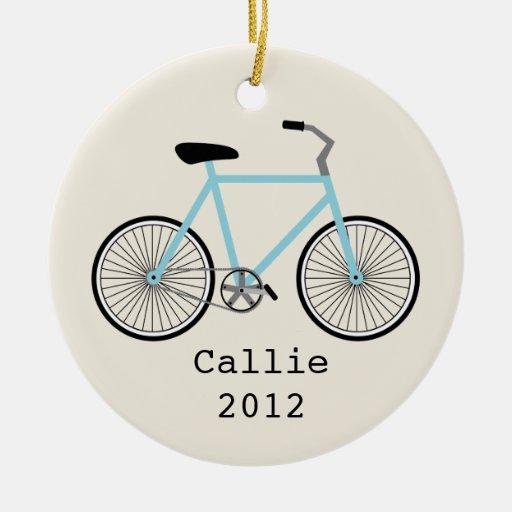 Ornamento personalizado bicicleta azul clara ornato