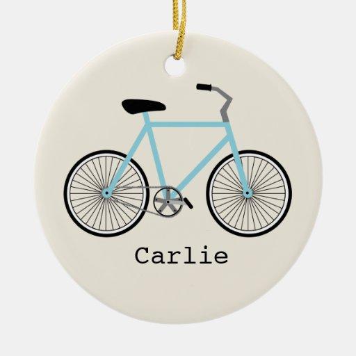 Ornamento personalizado bicicleta azul clara adorno para reyes