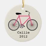 Ornamento personalizado bicicleta de las rosas fue ornamentos de reyes magos