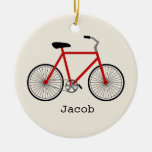 Ornamento personalizado bicicleta roja adornos